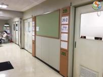 課程結束後部分教室都會變成自習室,提通學生安靜的讀書空間!